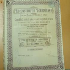 Actiune,, RECONSTRUCTIA DOBROGEANA