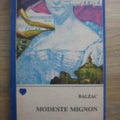Honore de Balzac - Modeste Mignon - Roman, Anul publicarii: 1991