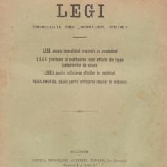 Legi promulgate prin Monitorul Oficial (editie 1921)