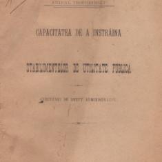 Anibal Teodorescu / Cercetari de drept administrativ (editie 1908, ex-libris D.Alexandresco)