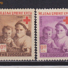 Timbre Jugoslavia 1949-53 Crucea Rosie nestampilate