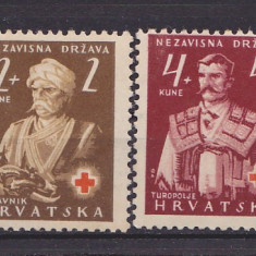 Timbre Kroatia - Crucea Rosie nestampilate