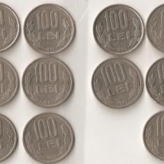 (MR10) MONEDA 100 LEI ; 16 MONEDE DIFERITE, COLECTIE; MONEDE, MONEZI, MONETE - Moneda Romania