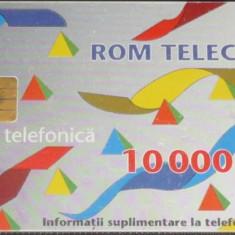 CARTELA TELEFON ROMTELECOM DE 10000 LEI DIN 1995 - Cartela telefonica romaneasca