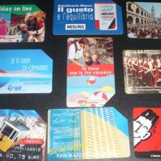 ITALIA. 9 CARTELE TELEFON. TEMATICA DIVERSA - Cartela telefonica straina