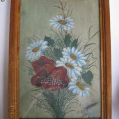 PICTURA IN ULEI SEMNATA ANII 50 CU PASPARTU MARMOROSCH BLANK 75 ANI 1848-1923. - Pictor strain