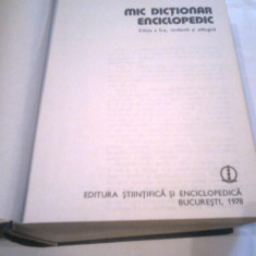 MIC DICTIONAR ENCICLOPEDIC Ed.a II-a, 1978, Pag.1850