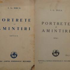 I. G. Duca, Portrete si amintiri, 1932 - Carte Editie princeps