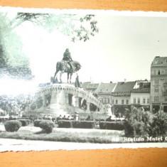 Carte postala Cluj Statuia Matei Corvinul 1936
