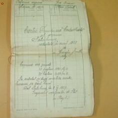Cartea funciara cadastrala Brasov Sacele Satulung 1927 - Pasaport/Document
