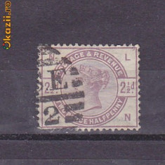 Timbre Anglia 1883-84 Queen Victoria perf.14 st.