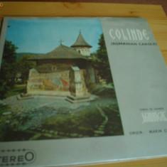 Colinde romanian carols corul de camera madrigal disc VINYL lp Muzica Religioasa electrecord, VINIL