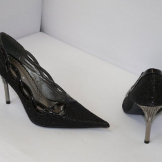 Pantofi pentru femei, negri, de gala - (Belle Woman 5837-2A black ) REDUCERE EXCEPTIONALA DE PRET - Pantof dama, Culoare: Negru, Marime: 35, 39, 40, 41, Negru