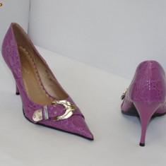 Pantofi mov  cu catarama  ,  - (Belle Woman 257-31 light purple) REDUCERE EXCEPTIONALA DE PRET, 38 - 40, Cu toc