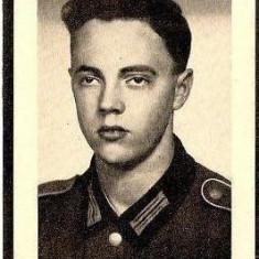 V FOTO 16 Necrolog -Militar german Gefreiter Max Krenn, cazut in razboi, la varsta de 19 ani si jumatate -cruce cu zvastica 1939 - Fotografie