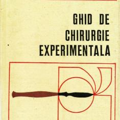 GHID DE CHIRURGIE EXPERIMENTALA - VLADIMIR CAPATANA 1976 - Carte Chirurgie