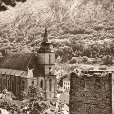 R 9321 Republica Populara Romana Brasov Biserica Neagra orasul Stalin circulata - Carte Postala Transilvania dupa 1918