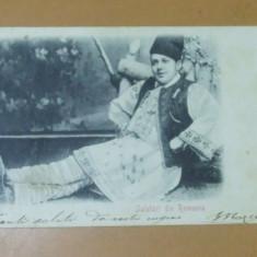 Carte Postala Salutari din Romania Costum popular