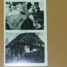 Carte Postala 2 imagini tiganca si casa din Carpati