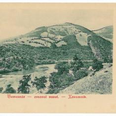 2150 - L i t h o, TIMISOARA-ORSOVA, Cernei gorge, railway - old postcard- unused - Carte Postala Banat pana la 1904, Necirculata, Printata