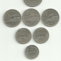 Moneda 5 bani 1966 15 bani 1966 3 lei 1966 RSR - Moneda Romania