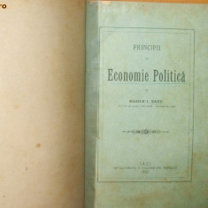 Basile Radu Principii de economie politica Iasi 1890 - Carte Economie Politica