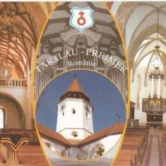 CP195-64 Cetatea si Biserica Evanghelica-Saseasca C.A. Prejmer -Brasov - carte postala, necirculata -starea care se vede