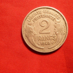 2 Franci, 1948, Franta, Aluminiu, cal Buna, d=2, 7cm.