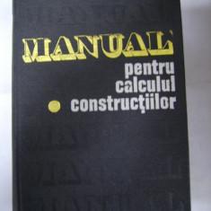 MANUAL  PENTRU  CALCULUL  CONSTRUCTIILOR -CARACOSTEA