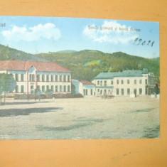 Carte Postala Nasaud Scoala primara si banca Aurora
