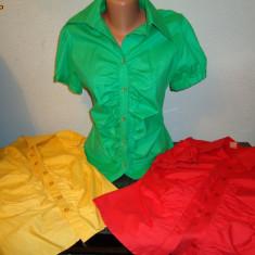 BLUZE DAMA BUMBAC 100%, - Bluza dama, Maneca scurta, Verde
