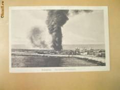 Carte Postala Constanta Tancuri petroliere in flacari foto