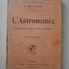 G. BIGOURDAN - L'ASTRONOMIE - Carte Astronomie