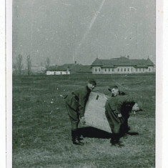 220 - BUCURESTI - Militari germani - 1941 - real foto 9 / 7 - Fotografie veche