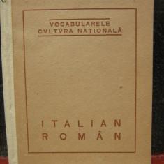 VOCABULARELE CULTURA NATIONALA-DICTIONAR ITALIAN ROMAN-1922