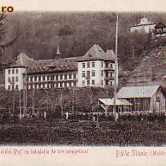 Romania, Baile Slanic Moldova, carte postala UPU necirc apr.1902: Hotelul Puff II. - Carte Postala Moldova pana la 1904, Necirculata, Fotografie