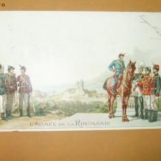 Carte Postala Litografie L'armee de la Roumanie