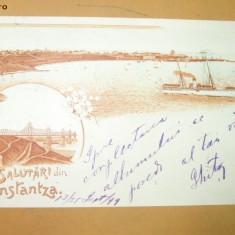 Carte Postala Litografie Salutari din Constanta
