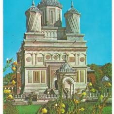 Carte postala(ilusrata)-MANASTIREA CURTEA DE ARGES