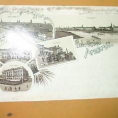 Carte Postala Litografie Salutari din Arad