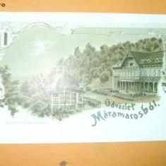 Carte Postala Litografie Salutari din Maramures