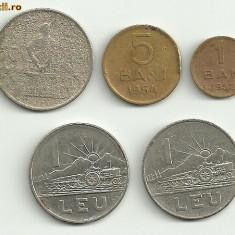Moneda 50 bani 1955 1 leu 1966 - Moneda Romania