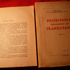 Victor Jinga - Pb. Fundam. ale Transilvaniei -2 vol. -I Ed. 1945 - Istorie
