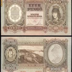 UNGARIA BANCNOTA DE 1000 PENGO 1943 PERFECT UNC