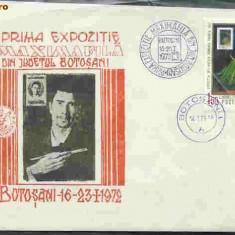 Plic special Prima Exp. Maximafila din Jud. Botosani, 16-23.1.1972, Botosani, 16.01.72