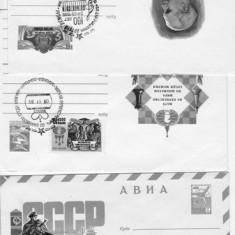 ANSAMBLU DE 3 plicuri /timbrate / RUSSIA - RU 98 - Plic Papetarie