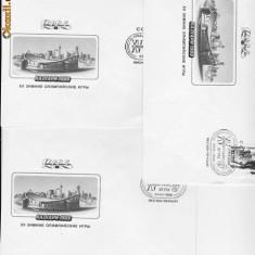 ANSAMBLU DE 3 plicuri /timbrate / RUSSIA - RU 97 - Plic Papetarie
