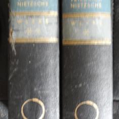 F Nietzsche Werke in 2 Banden A Kroner 1942 - Carte Filosofie