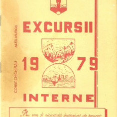 Excursii 1979 interne*trasee, harti - Harta Topografica