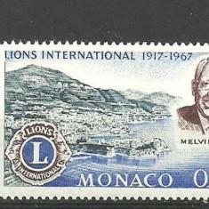 Monaco 1967 - LIONS INTERNATIONAL, timbru MNH, B15